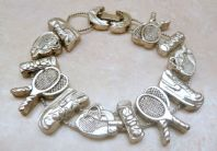 Quirky Tennis Sporting Charm Bracelet